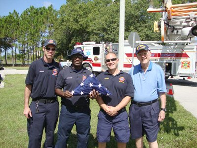 35 Fire Rescue with flag