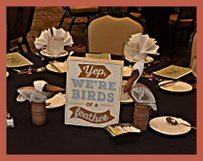 05 Table Center piece - Birds of a Feather
