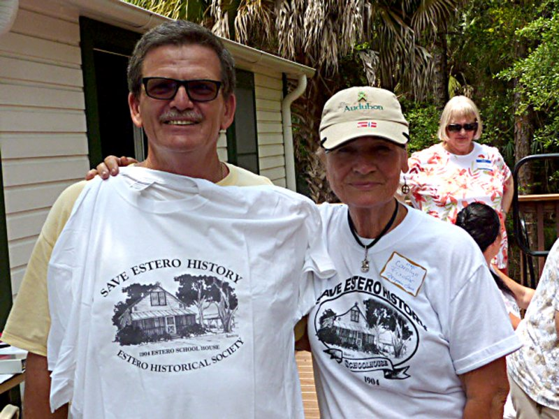 John Weeks (Weeks Fish Camp) and Carolyn Weeks with the winning T-shirt!