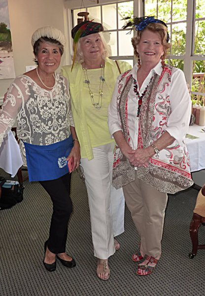 Lourdes Price, Jean Pryal and her friend wore one of Pamela Gerali's hats
