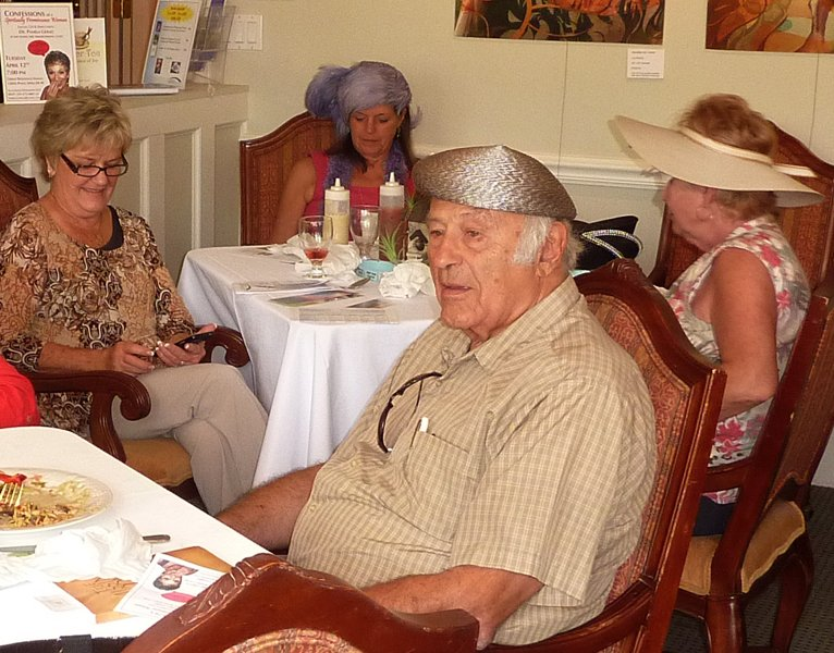 Carolyn's husband Augie always supports her even to wear a hat. Mary, Sunny and Carol in background