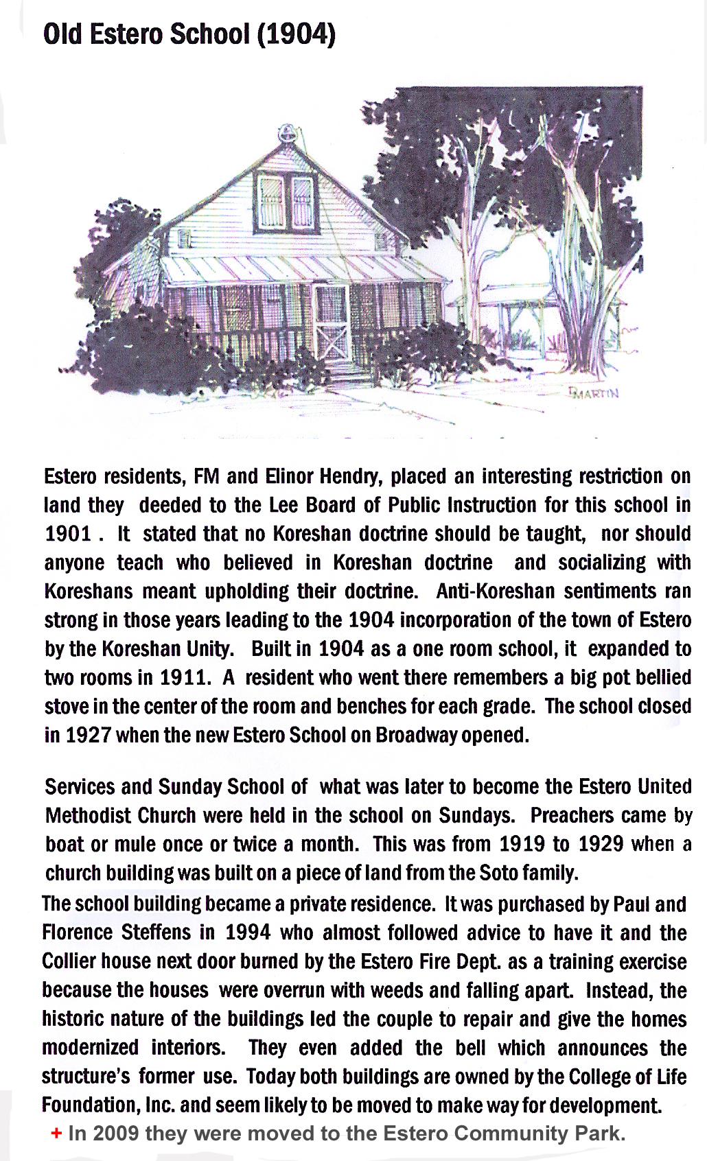 1904 Estero One Room School