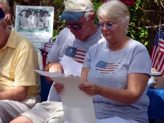 Reading of the Declaration of Independance