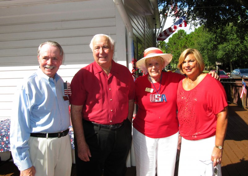 Charles Dauray, Mayor Batos, Bev MacNellis and Linda Batos