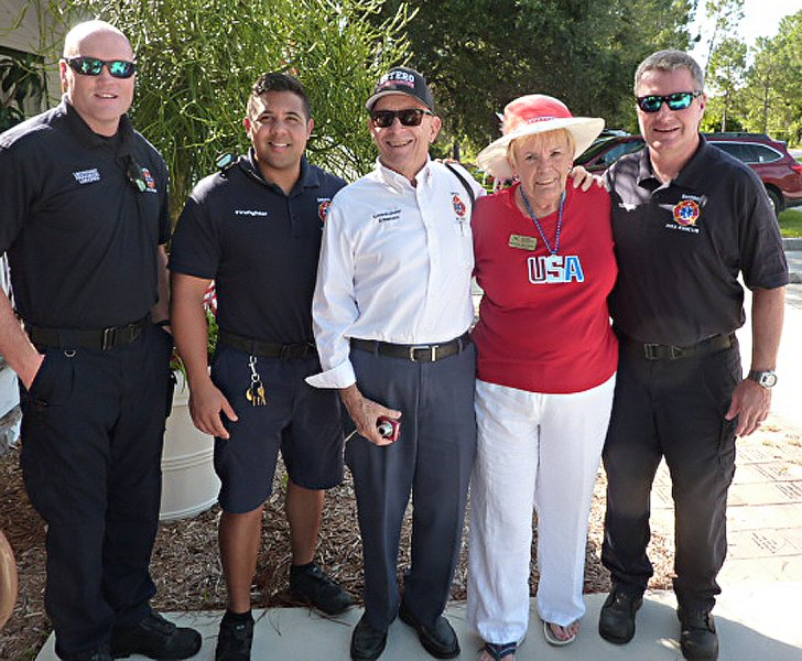 Estero's best-Terry Lindgrenm, Emile Blanco, Dick Schweers and Jim Brown with Bev MacNellis