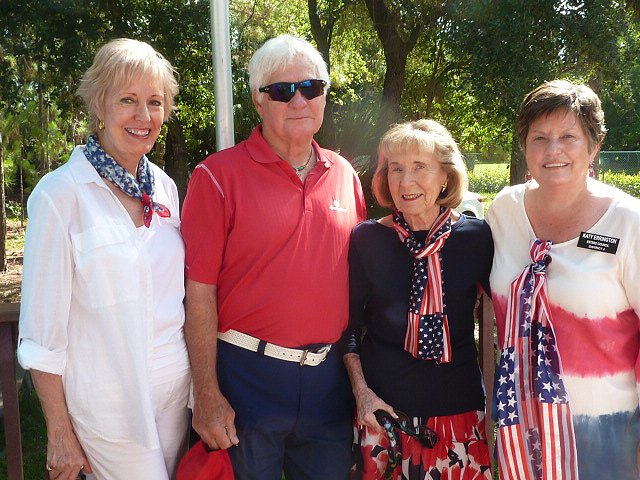 Marilyn and Bill Edwards with Eileen Galvin and Councilwoman Katy Errington