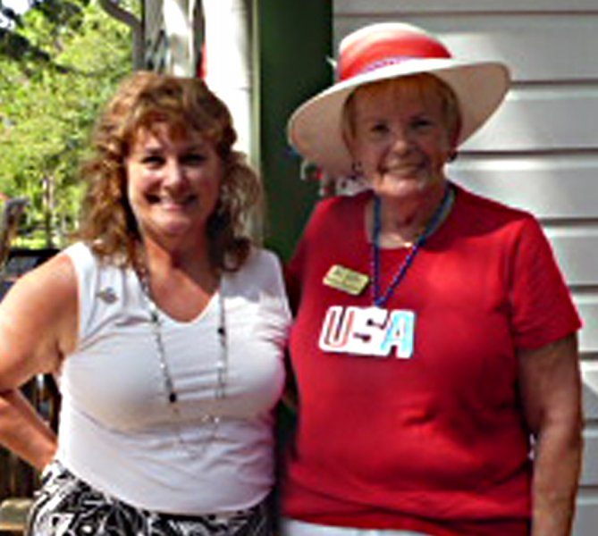 Rotary President Jamie Lienhard and EHS VP Beverly MacNellis