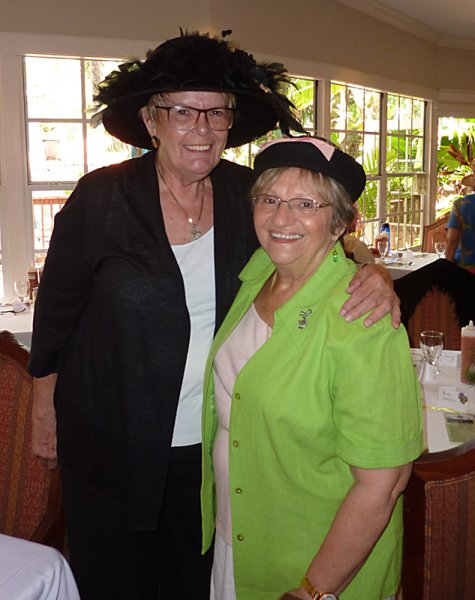 Beverly MacNellis and Barbara Toth always have a hat