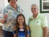 Winner Cindy Luettich with Madison and Marlene Fernandez,