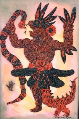 05-shaman-by-charles-dauray-rosary-pea-acrylic-on-canvas