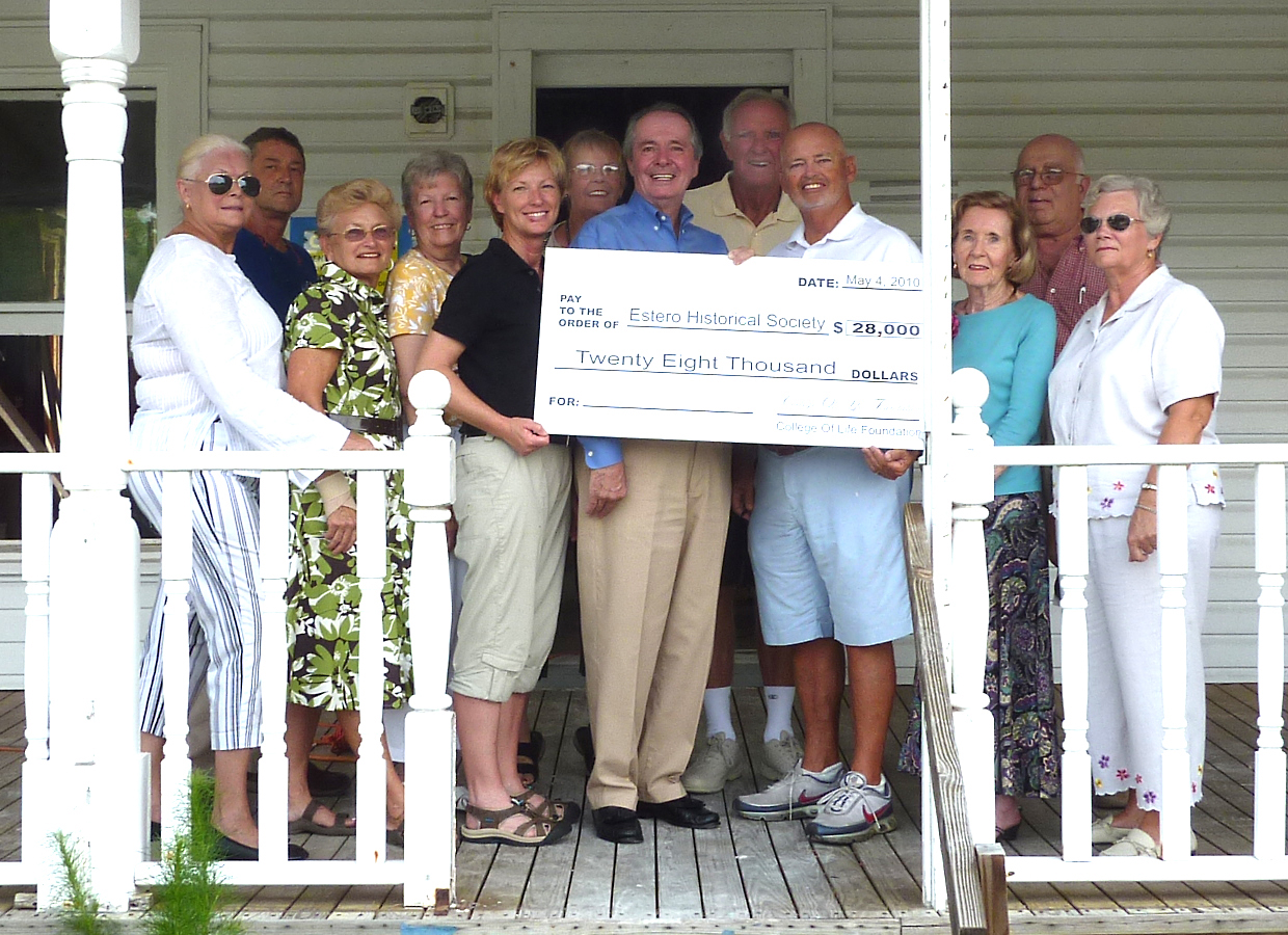 College of LIfe Donation to Estero Historical Society