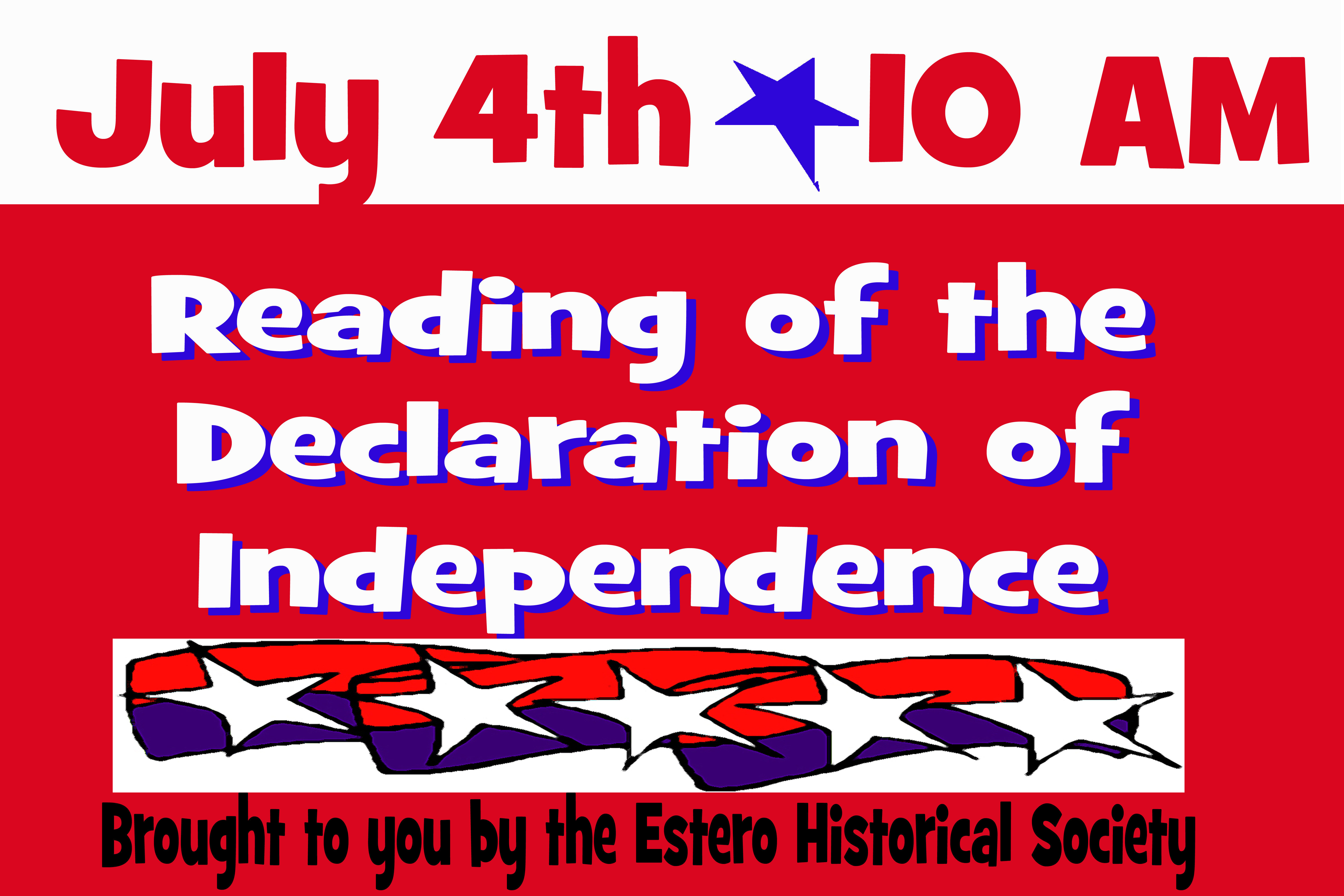 July 4th – Annual Reading of the Declaration of Independence