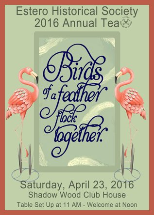 EHS Annual Tea ~ Birds of a Feather, Flock Together