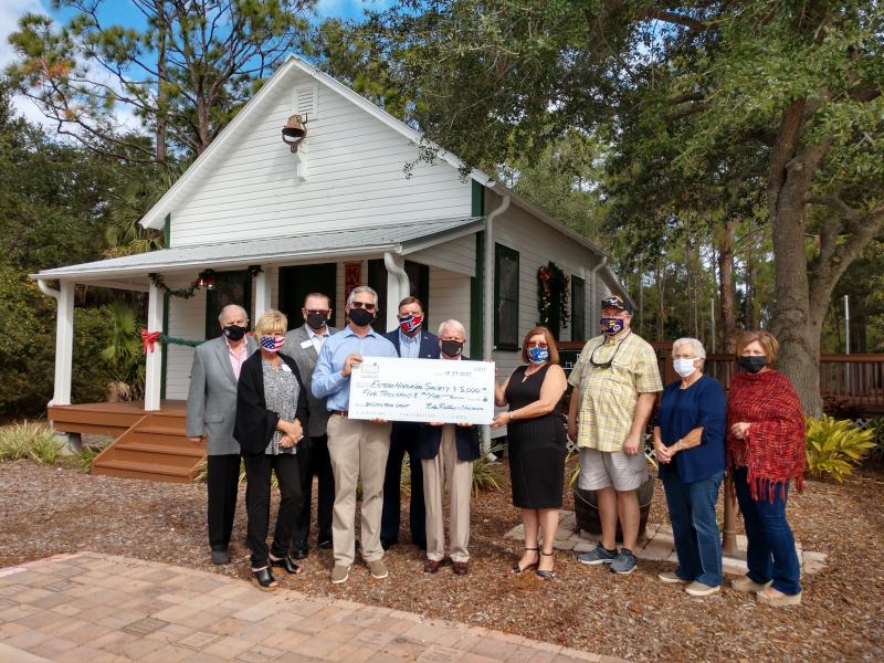 Estero Forever Foundation Presents Check to Estero Historical Society