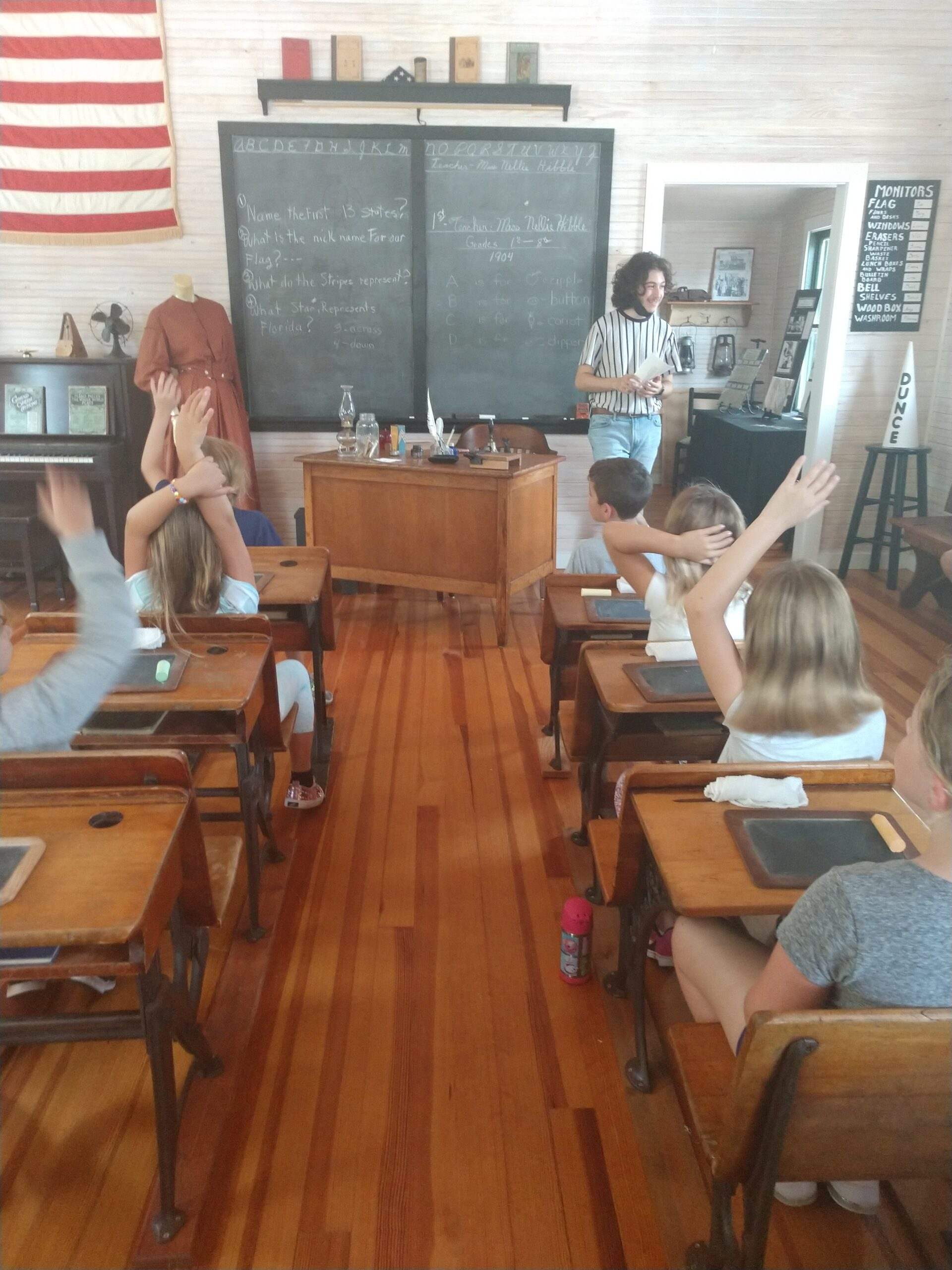 Schoolhouse with student tour